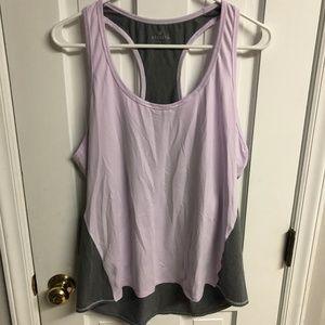 Athleta Chi Tank Purple Gray Colorblock XL